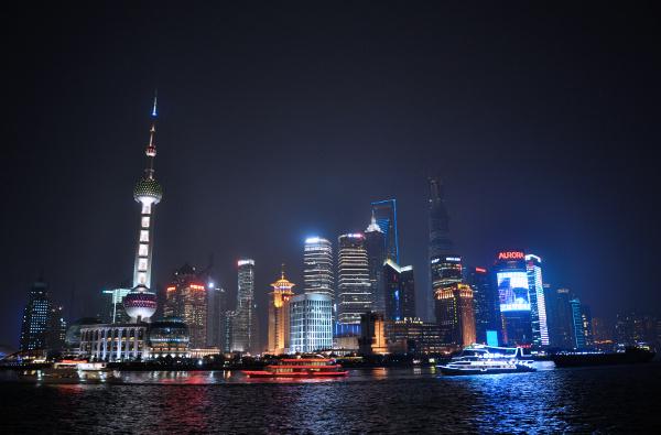 vista di Shanghai con la Perla d'Oriente